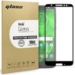 Black Full Coverage Tempered Glass Screen Protector - Motorola Moto G6
